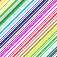 Rainbow colored barcode background.