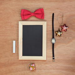Vintage objects collection. Festive background