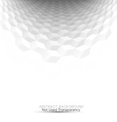 Abstract white & grey cubes 3d background