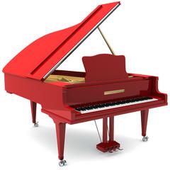 Red grand piano