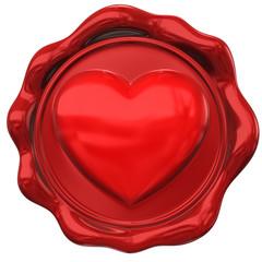 Wax seal of love