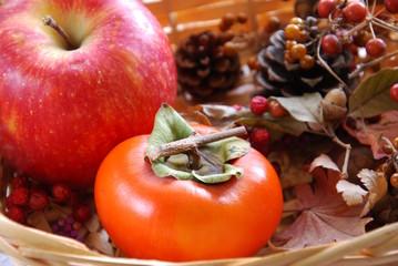 柿と木の実