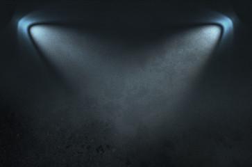 light on dark wall
