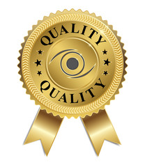 Eye of Quality (Gold & Black)