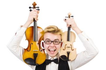Artist with instrument