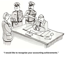 """I would like to recognize your accounting achievements."""