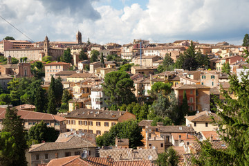 Rooftops of Perugia medieval town, Umbria, Italy