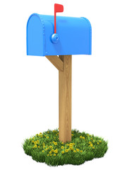 Mailbox on the grass