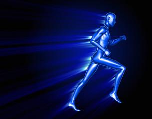 Running 3D man