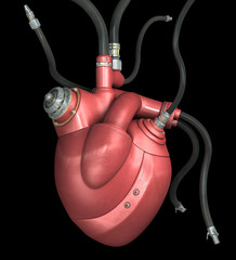 Mechanical Heart on a black background