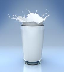 Splash of milk in glass