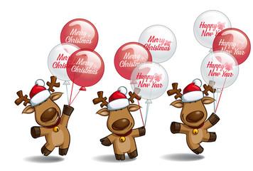 Christmas Elks Balloons