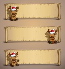 Christmas Elks Papyrus Sitting