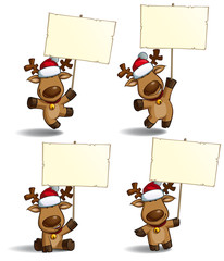 Christmas Elks Placard