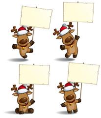 Christmas Elks Placard