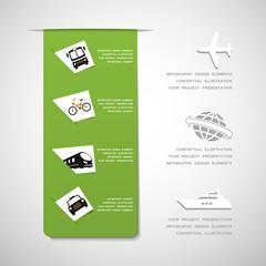 Transportation infographic design elements