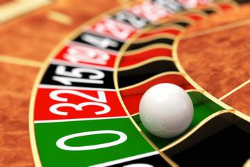 Casino roulette. Zero