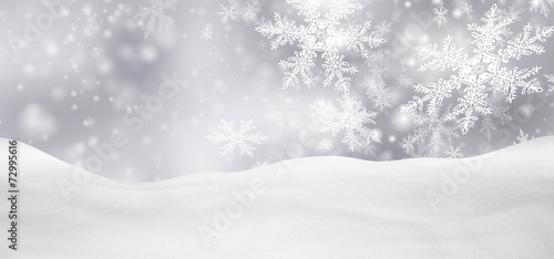 canvas print picture Weihnachtskarte, Weihnachten, Hintergrund, Winter, Silber, Grau