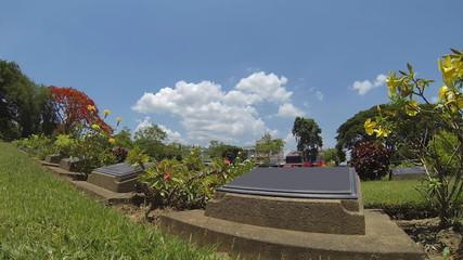 Kanchanaburi War Cemetery, Time Lapse.