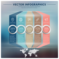 Vector abstract infographic design