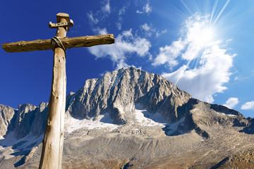Wooden Cross - Italian Alps