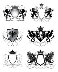 Heraldry set shield