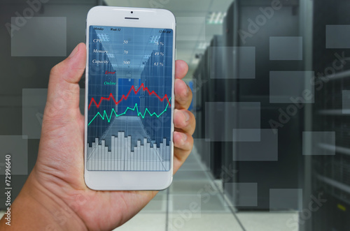 system monitoring technology by smart phone - 72996640