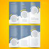 Fototapety brochure design template trifold vector geometric abstract circl