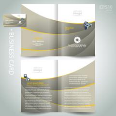 photography brochure design template - booklet diaphragm photo c