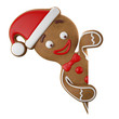 3d character, cheerful gingerbread, Christmas funny decoration - 72997223