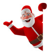 Cheerful 3d model of Santa Claus, happy christmas icon - 72997678