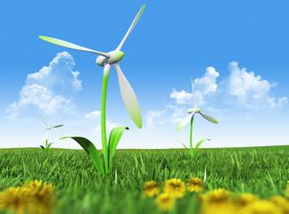 Green renewable energy concept