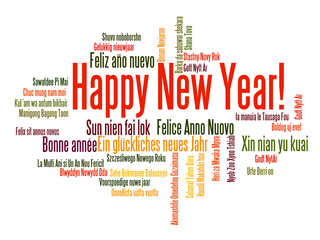 Happy New Year word cloud