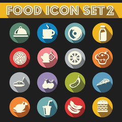 Basic Food Icons Vector Set 2