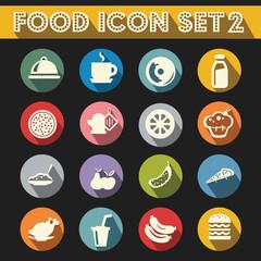Basic Food Icons Vector Set 2