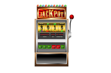 new year 2015 in slot machine vector illustration