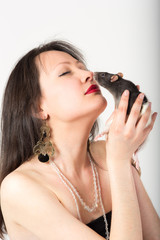 portrait with rat