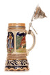 canvas print picture - Musical german beer stein