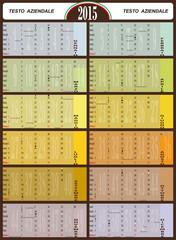 calendario 2015,50x65cm,festività,lunario, numero settimane