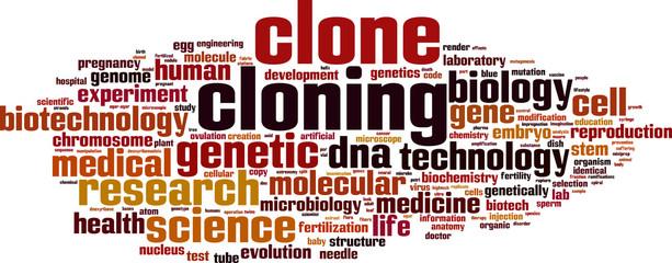 Cloning word cloud concept. Vector illustration