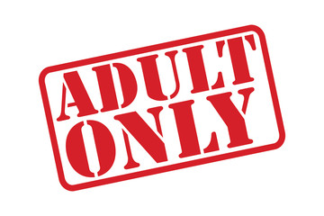 ADULT ONLY Rubber Stamp vector over a white background.