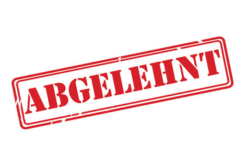 ABGELEHNT ( rejected ) red rubber stamp vector