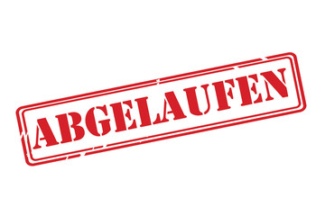 ABGELAUFEN ( Expired ) red rubber stamp vector