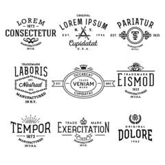 collection vintage labels