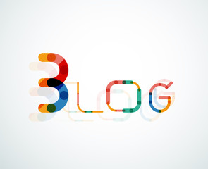 Blog word font concept