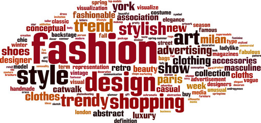 Fashion word cloud concept. Vector illustration