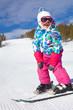 girl on ski