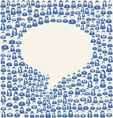 Social media user speech bubble