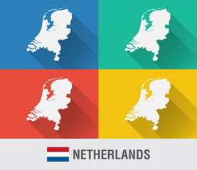 Netherland world map with a pixel diamond texture.