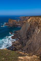 High cliffs panorama